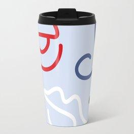 Fractured Art Face Pattern Travel Mug
