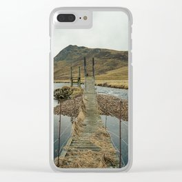 Derelict Bridge Clear iPhone Case