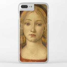 """Sandro Botticelli """"The Virgin and Child with Saint John and an Angel"""" The Virgin Clear iPhone Case"""