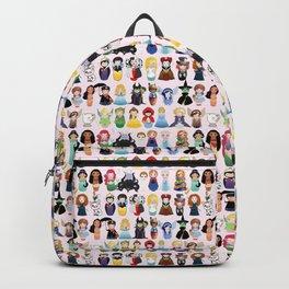 Cute kokeshis fairy tales Backpack