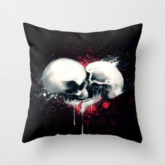 Death Lovers Throw Pillow