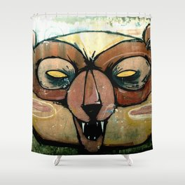 Angry Bear Shower Curtain