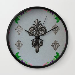 Fluer de lis (cool) Wall Clock