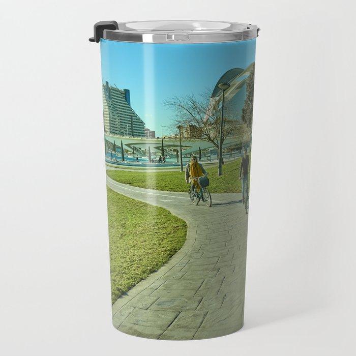 Sunny day in Valencia Travel Mug