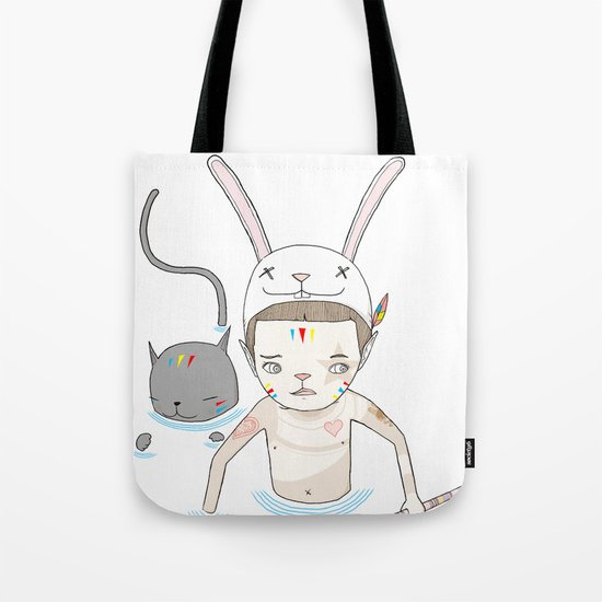 OVER THE BLACK POND Tote Bag