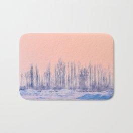 pastel winter landscape #society6 #decor #buyart Bath Mat
