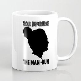 Support The Man Bun Coffee Mug