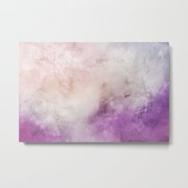 Smoky watercolor creamy purple Metal Print