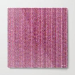 Pink Roses in Anzures 1 Knit 2 Metal Print