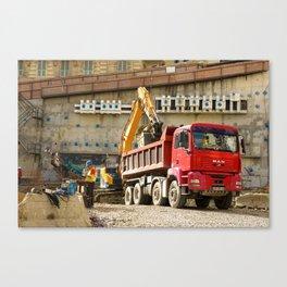 Monte Carlo Construction Canvas Print