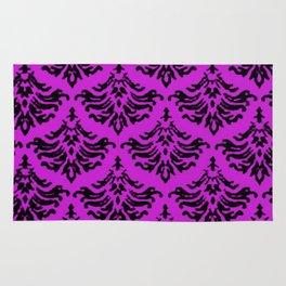 Vintage Damask Brocade Dazzling Violet Rug