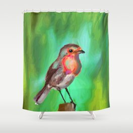 Early Bird Gets the Worm Shower Curtain