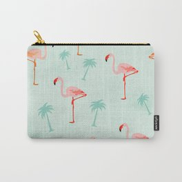 Vintage Flamingos Carry-All Pouch