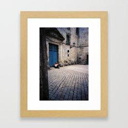 One Man Show Framed Art Print