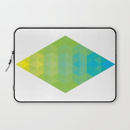Yellow Cyan Diamond Gradient Laptop Sleeve