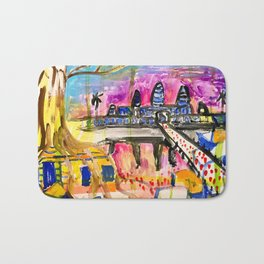 Angkor Wat and Ta Prohm in Cambodia Bath Mat