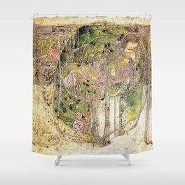 Margaret Macdonald Mackintosh Sleeping Princess Shower Curtain