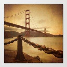 Vintage Golden Gate Canvas Print