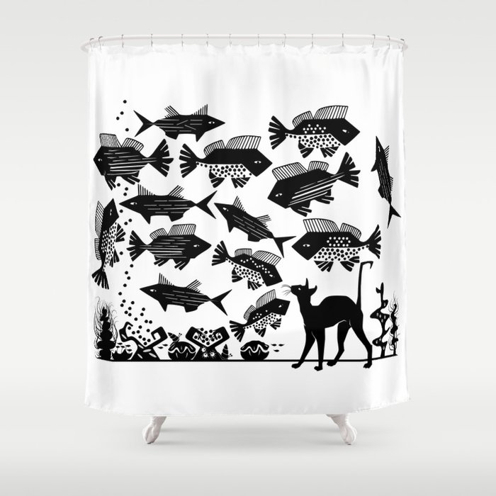 Cat Fish -The Other Side of Eve Shower Curtain