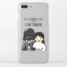 You are the reason why I can't breathe - Funny Valentine's Day Clear iPhone Case