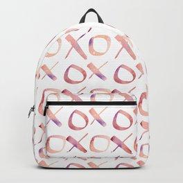 xoxo Watercolor Pink Purple Backpack