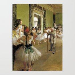 Edgar Degas The Dance Class Poster