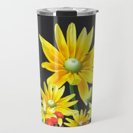 Bright At Midnight Floral Travel Mug