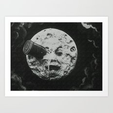 Georges Méliès A Trip To The Moon Art Print