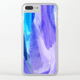 375 - Abstract Flower Design Clear iPhone Case