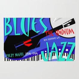 Modernist Blues / Jazz venue poster Rug