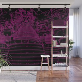 Apollo Rocket Booster - Pink Neon Wall Mural