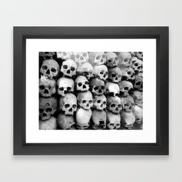 UNNESSASARY SACRIFICES // Skulls of Cambodia Killing Fields Framed Art Print