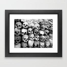 UNNESSASARY SACRIFICES // Skulls of Cambodia Killing Fields Framed Art Print