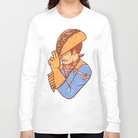 taco Long Sleeve T-shirts featuring Taco Cowboy by Jonah Makes Artstuff