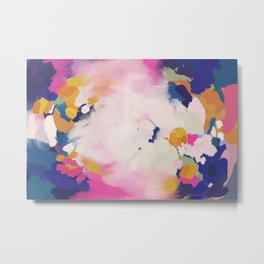 Colourful evening- abstract- blue, pink , orange Metal Print