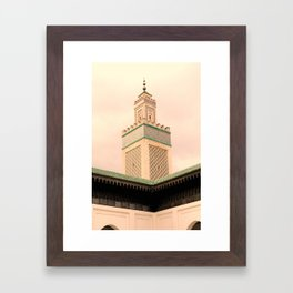 Grande Mosquee de Paris  Framed Art Print