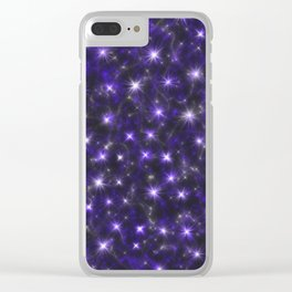 Ultra Violet Stars in a Purple Galaxy Clear iPhone Case