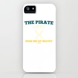 Pirate seafaring adventure treasure hunt iPhone Case