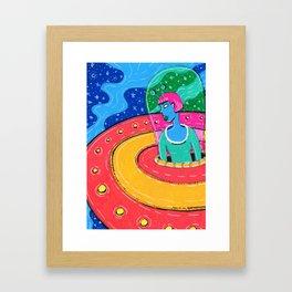 I see you, Earthlings Framed Art Print