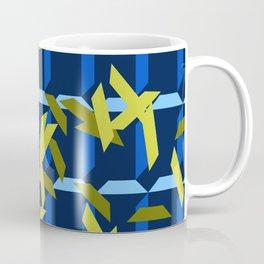 trapezoids grid pattern_navy Coffee Mug