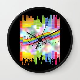 Colorful Musical Theme Wall Clock
