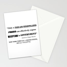 Only a free and unrestrained PRESS can effectively expose deception in GOVERNMENT Stationery Cards