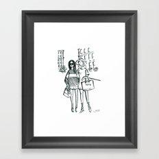 Brush Pen Fashion Illustration - Friends Framed Art Print