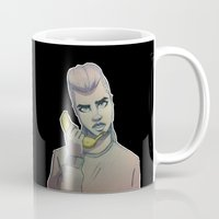 cara delevingne Mugs featuring Cara Delevingne by Maze-of-Pines