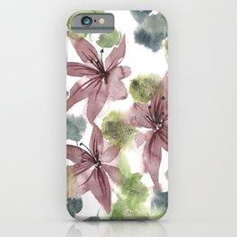 Watercolor Jacinto Flowers iPhone Case