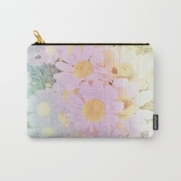 Pink Sorbet Chamomile Flowers Carry-All Pouch