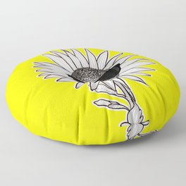 SunglassesFlower Floor Pillow