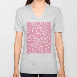 millennial pink blobs Unisex V-Neck