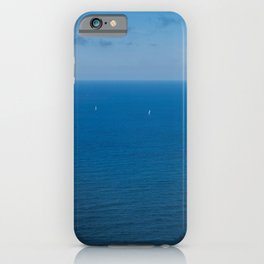 Yachts on the Atlantic ocean, deep blue water and sky. iPhone Case