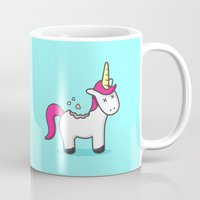 cookie Mugs featuring Unicorn Cookie by Sombras Blancas Art & Design
